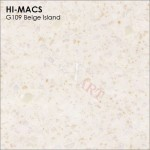 Lg Hi Macs Granite G109 Beige Island