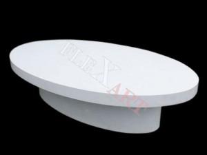 Овальный столик из искусственного камня
