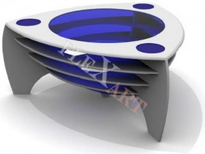 Дизайнерский стол из искусственного камня