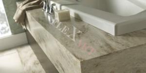 Столешница в ванную из искусственного камня Corian Sandalwood