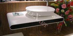 Подвесная дизайнерская столешница в ванную комнату