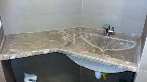 Общий вид столешница для ванной