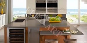 Стол для кухни с полочками-барной стойкой