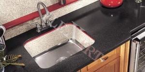 Раковина для кухни из искусственного камня с дном из нержавейки