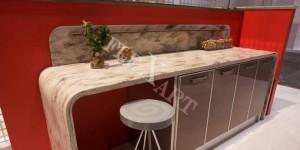 Барная стойка на кухню из искусственного камня Corian Hazelnut