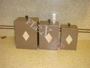 Кухонные контейнеры из искусственного камня
