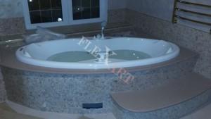 Столешница-подиум из искусственного камня для ванны