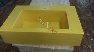 Желтая раковина из искусственного камня