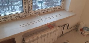 Вид подоконника пол радиатор