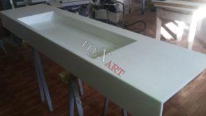 Процесс изготовления столешницы с раковиной