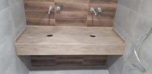 Столешница в ванную подвесная для узкой ниши